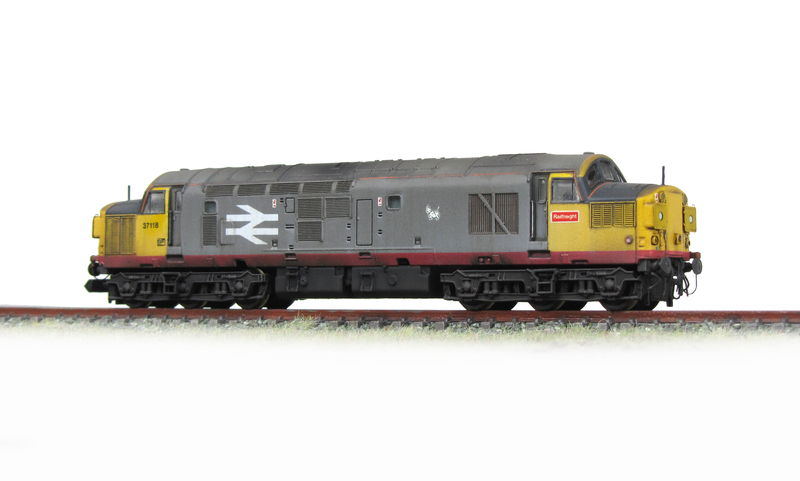 37118 respray into railfreight red stripe with lowered body and extensive detailing.