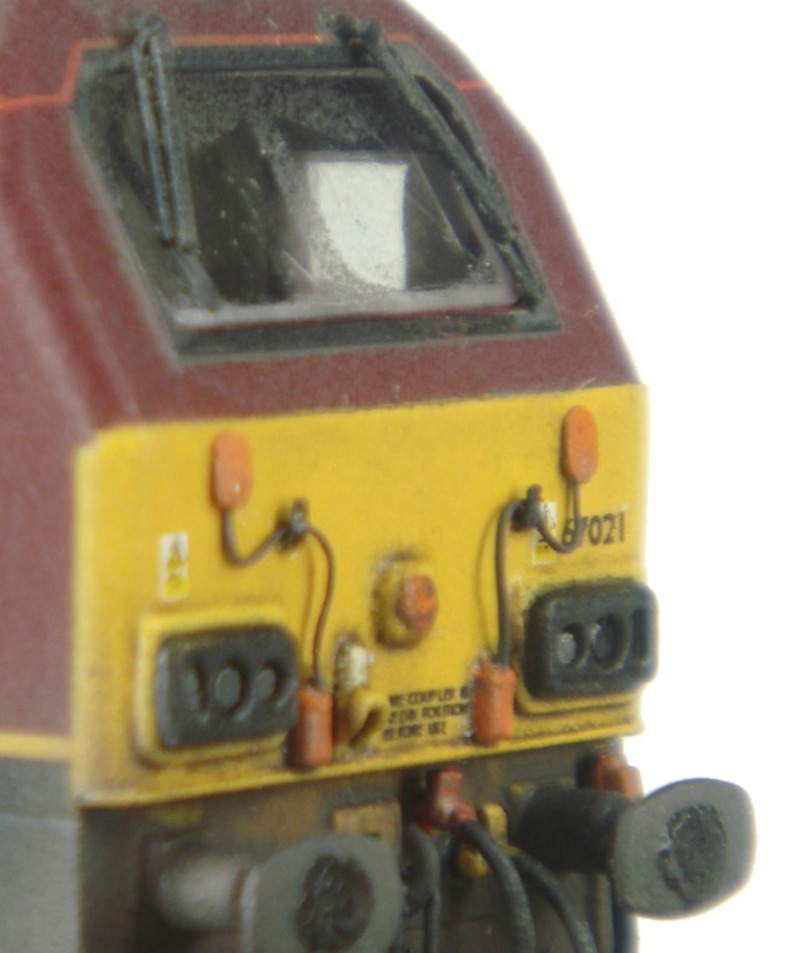 Class 67 with wire jumper cables