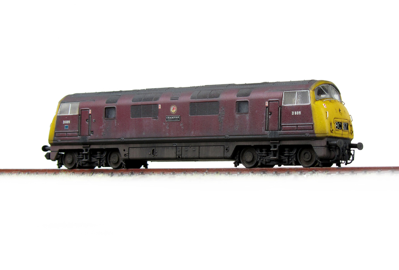 D809 heavily weathered with flaking and pitted paintwork.